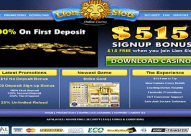 Lion Slots Casino Review